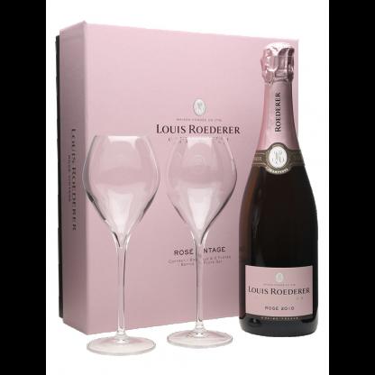 Louis Roederer Champagne Rose 2010 Glass Set