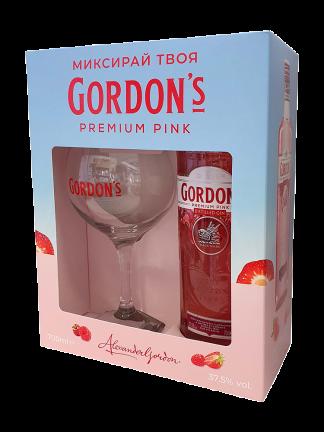 Gordon's London Dry Pink 0.7 + подарък Копа чаша